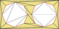 2D Constrained Delaunay triangulation, C++ example