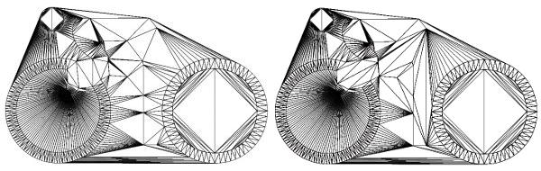 Delaunay triangulation and Constrained Delaunay triangulation