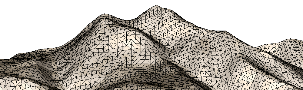 2.5D Delaunay Triangulation of a point cloud (TIN, Triangulated Irregular Network)