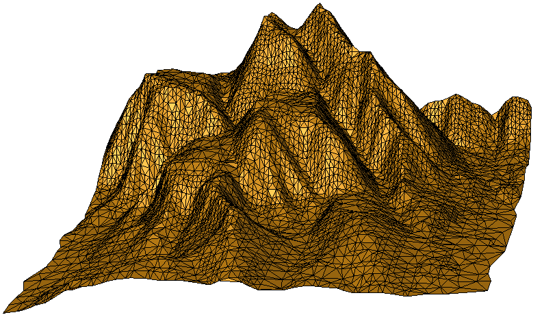 Triangle mesh, bad shaped border triangles removed