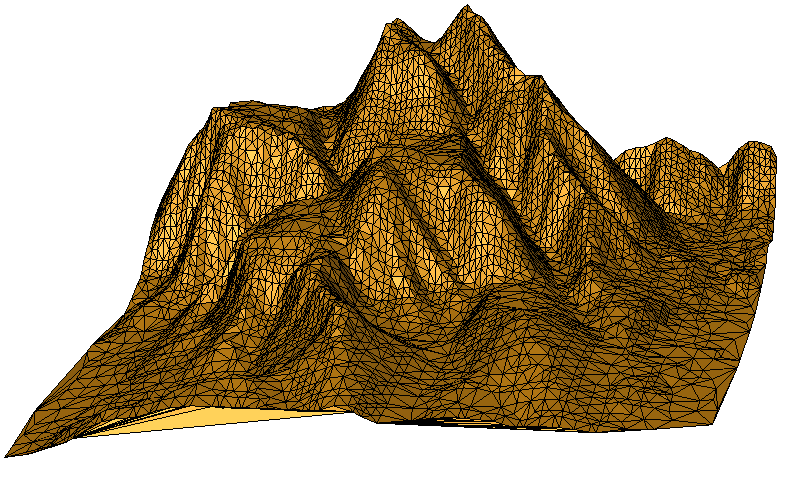 Triangle mesh with unwanted border triangles
