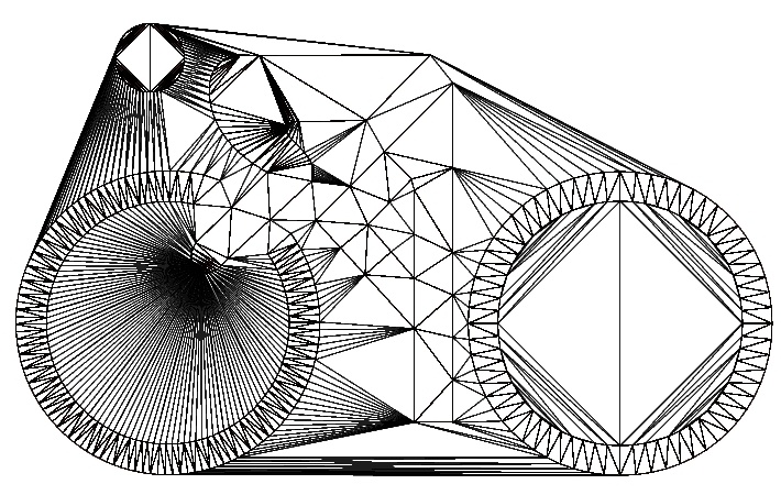 Conforming Delaunay triangulation -  subdivision for constraint segments to achieve better triangle quality.