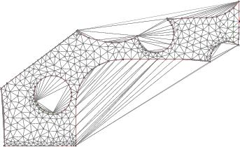 Quality meshing inside a polygonal shape