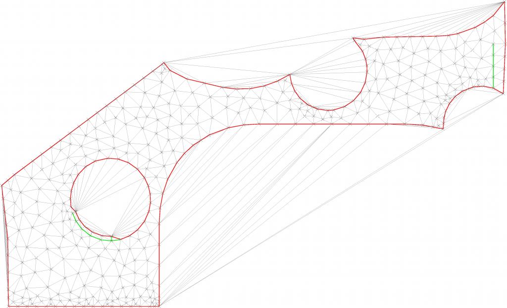 Quality meshing inside a polygon.