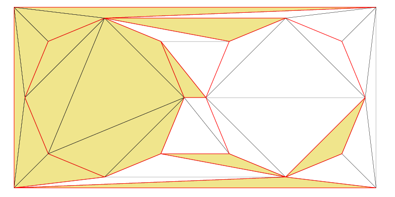 A Zone that has been created from a certain set of triangles.