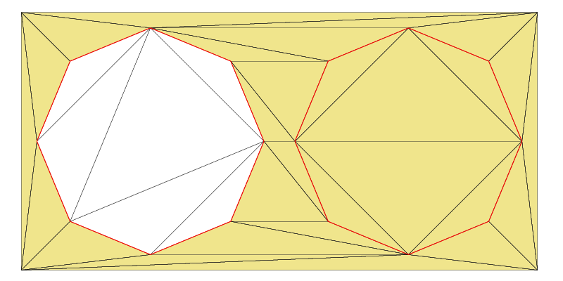 Triangulated polygons: A Zone defines a certain area