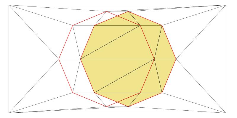 Zone defining a shape in a Delaunay Triangulation