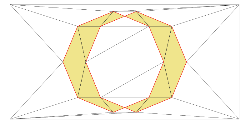 Boolean operation, symmetric difference of two shapes