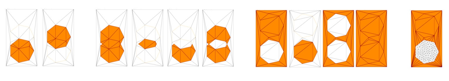 Shape triangulation and polygon clipping