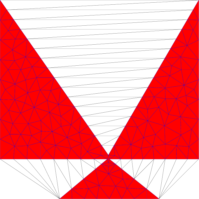 Delaunay meshing with maximum edge length
