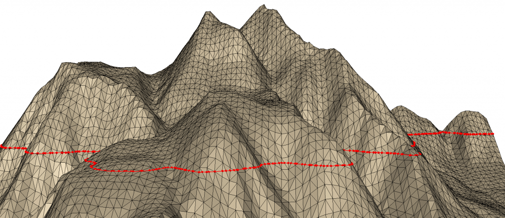 ISO Contours computed from the test terrain