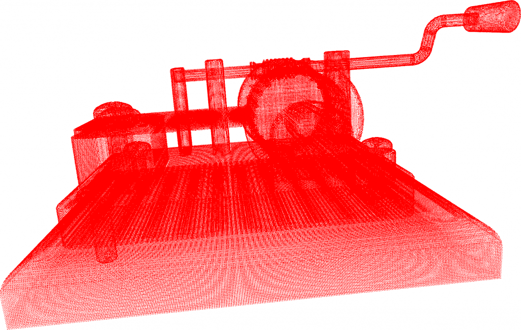 3D mesh, converted to a high quality point cloud