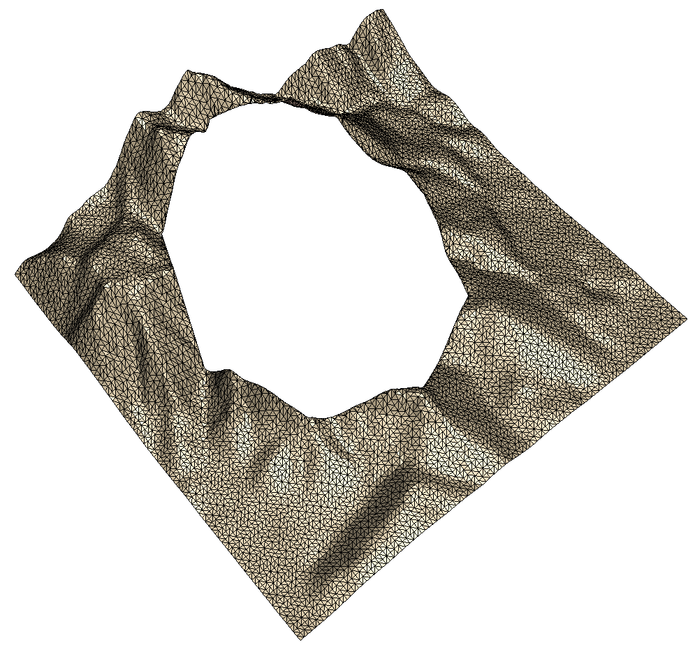 Terrain, complementary set of triangles