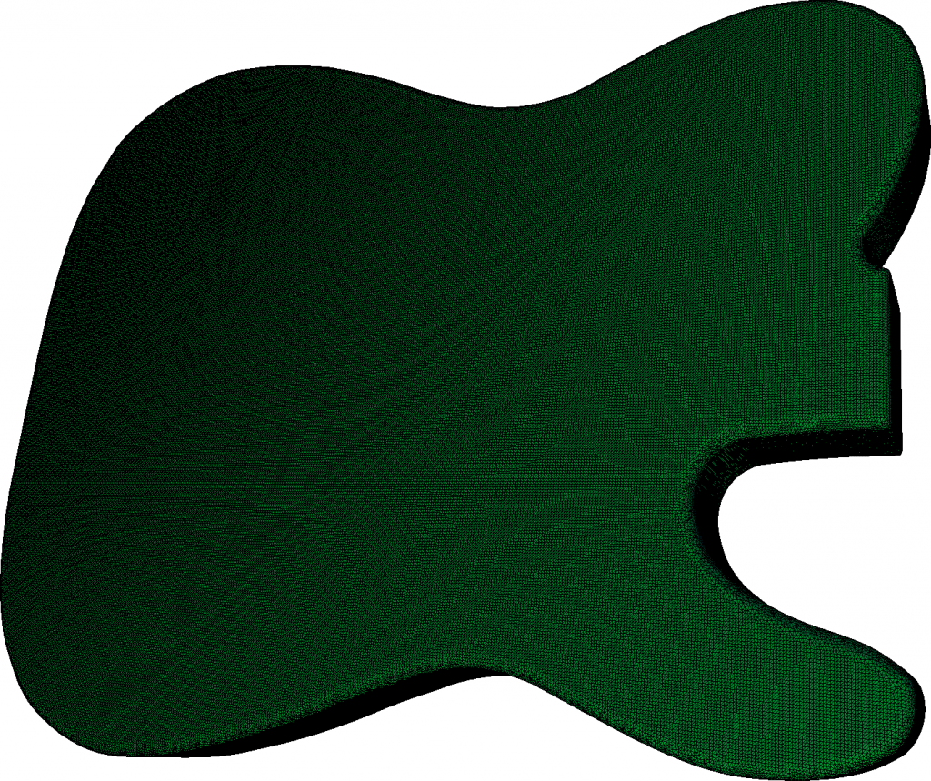 Triangle mesh reconstructed from a point cloud