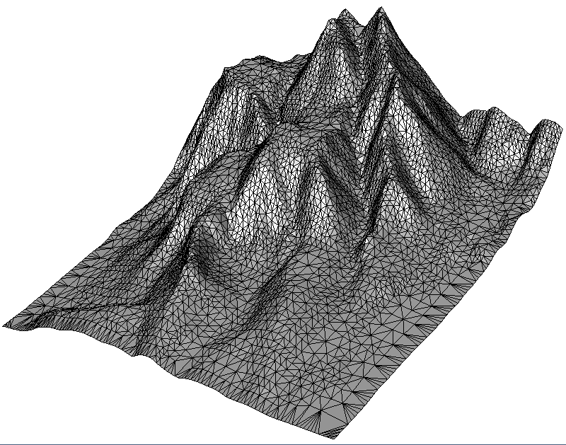 Terrain, adaptively simplified according to given height tolerance