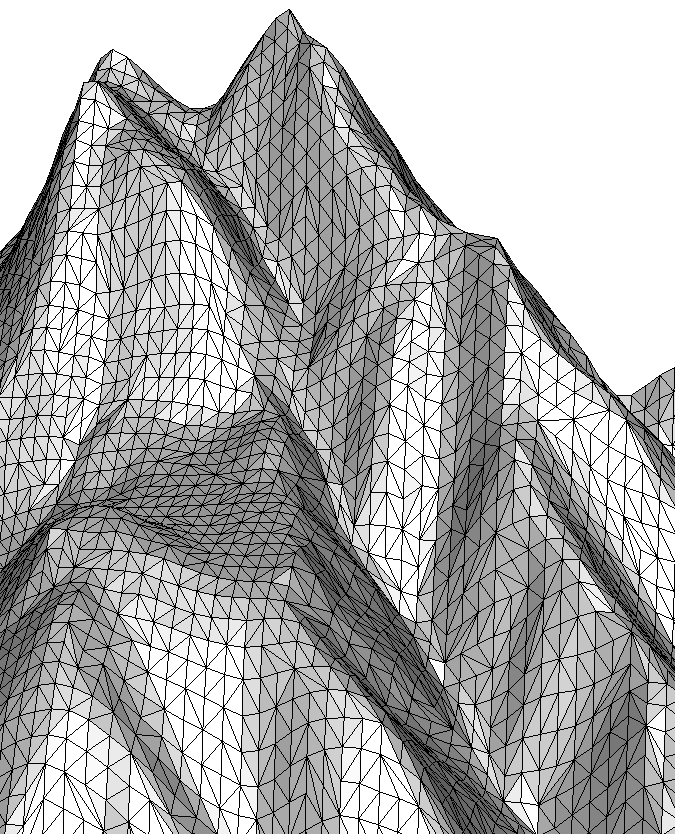 Terrain, edges flipped to better fit valleys and ridges