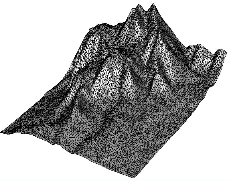 2.5D Delaunay Triangulation of a Terrain