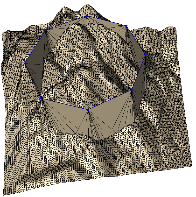 Breakline insertion without subdivision, without draping