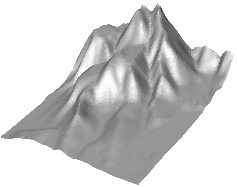 Terrain after weighted Laplacian smoothing