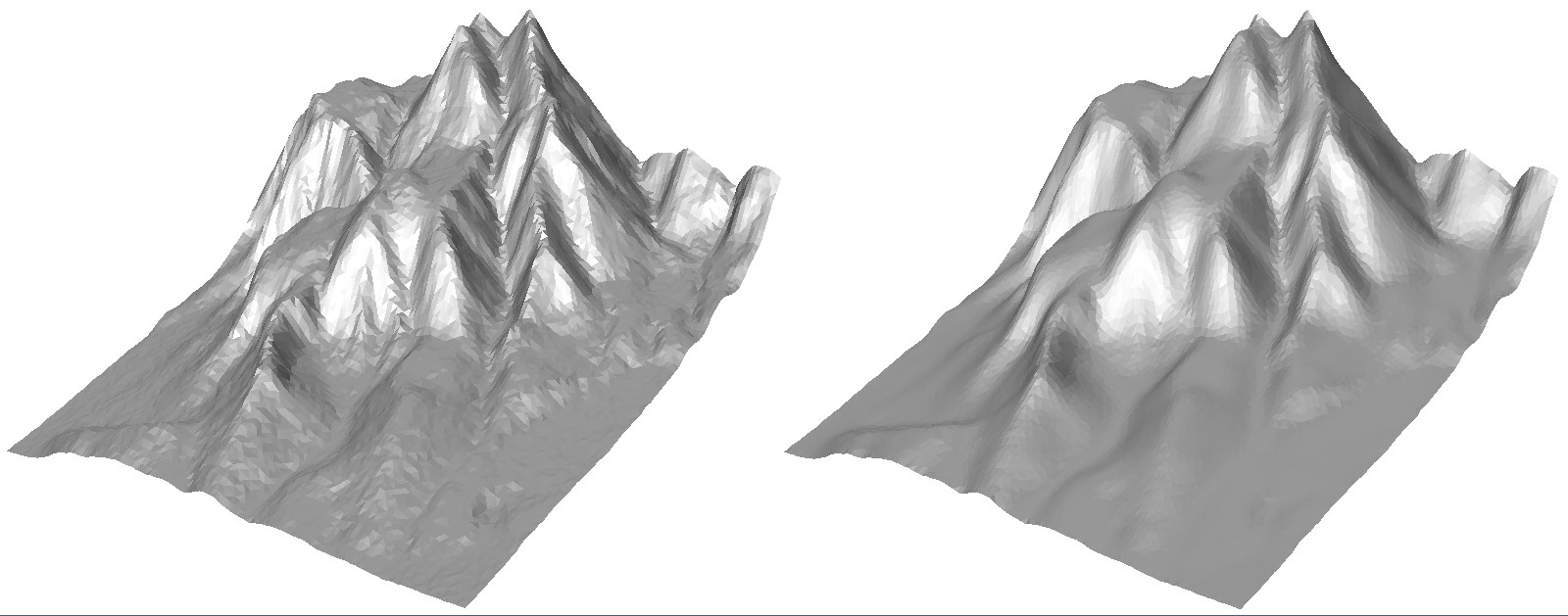 Weighted Laplacian Mesh Smoothing in C++