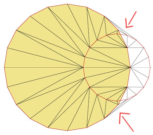 Fill-triangles created to complete the convex hull of the stored zones. This is a technical requirement.